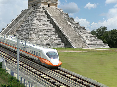 Chichen Itza y tren
